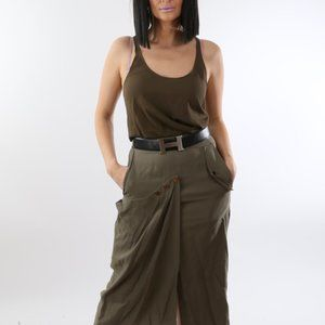 TOM FORD Army Green Sleeveless 2 in 1 Layered Top